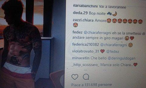 Fedez stuzzica Chiara Ferragni su Instagram