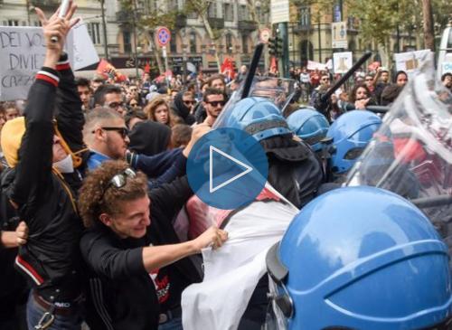 G7 a Torino: Scontri tra manifestanti e Forze dell'ordine (video)