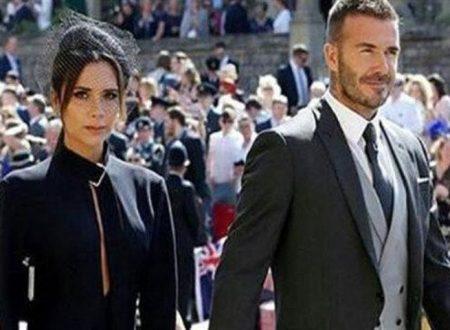 Alle nozze reali David Beckham e la moglie Victoria: visibile il tradimento