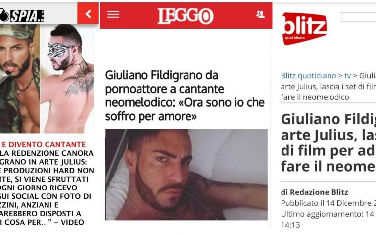 """PIÙ """"DURO"""" CHE MAI  Giuliano Fildigrano (JULIUS) candidato migliore attore 2019 dichiara """"Non smetto di fare Hard anzi"""""""
