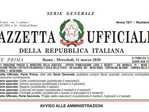 COVID-19 ESERCIZI APERTI IN ITALIA DAL 11-03-2020